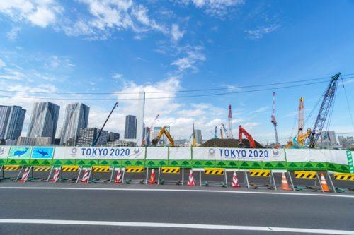 東京オリンピック工事中の風景